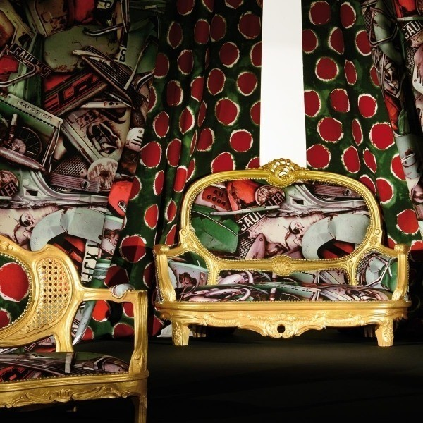 tissu fangio jean paul gaultier. Black Bedroom Furniture Sets. Home Design Ideas