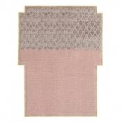 Tapis Big Rectangular Rhombus Pink 190x250 cm Gan Rugs