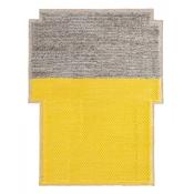 Tapis Big Rectangular Plait Yellow 190x250 cm Gan Rugs