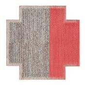 Tapis Square Plait Coral 160x160 cm Gan Rugs