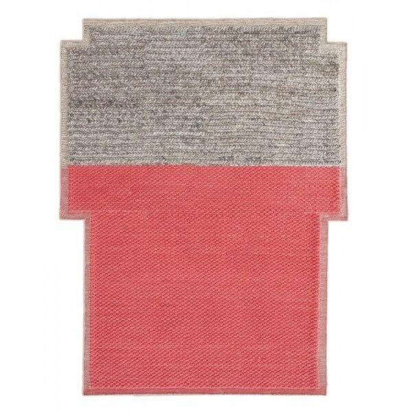 Gan Rugs big rectangular plait coral rug - gan rugs