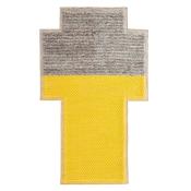 Tapis Rectangular Plait Yellow Gan Rugs