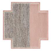 Tapis Square Plait Pink Gan Rugs