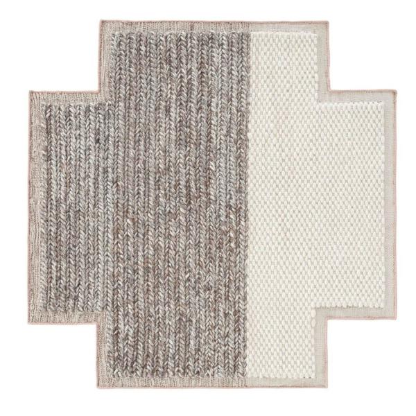 Gan Rugs square plait rug - gan rugs