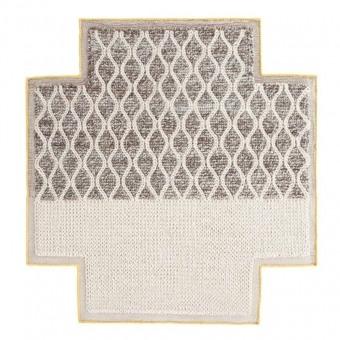 Tapis Square Rhombus Ivory Gan Rugs