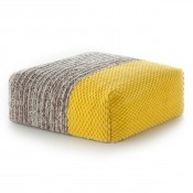 Pouf Square Plait Yellow Gan Rugs