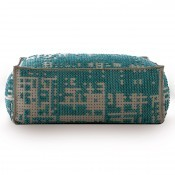 Pouf Soft Abstract Green Gan Rugs