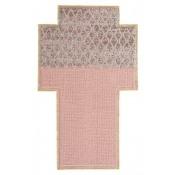 Tapis Rectangular Rhombus Pink Gan Rugs