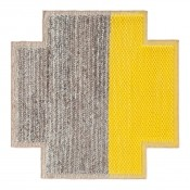 Tapis Square Plait Yellow 160x160 cm Gan Rugs