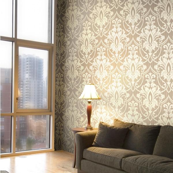 papier peint petersburg damask cole and son. Black Bedroom Furniture Sets. Home Design Ideas
