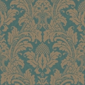 Papier peint Blake Turquoise Cole and Son