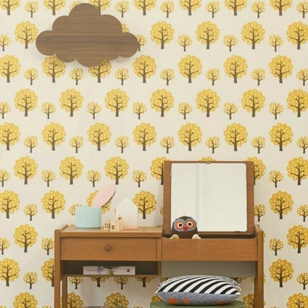 papier peint dotty ferm living. Black Bedroom Furniture Sets. Home Design Ideas