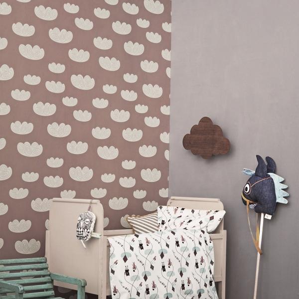 papier peint cloud ferm living. Black Bedroom Furniture Sets. Home Design Ideas