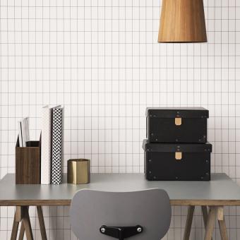 Grid Wallpaper Black/White Ferm Living
