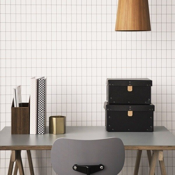 papier peint grid ferm living. Black Bedroom Furniture Sets. Home Design Ideas