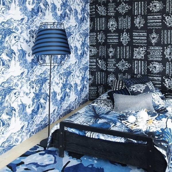 papier peint bain de minuit christian lacroix. Black Bedroom Furniture Sets. Home Design Ideas