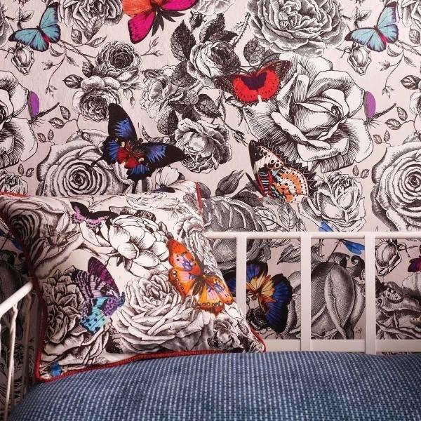 tissu butterfly garden osborne and little. Black Bedroom Furniture Sets. Home Design Ideas