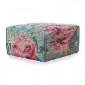 Pouf Square Flowers Colour Gan Rugs
