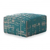 Pouf Square Abstract Green Gan Rugs