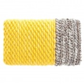 Coussin Plait Yellow Gan Rugs