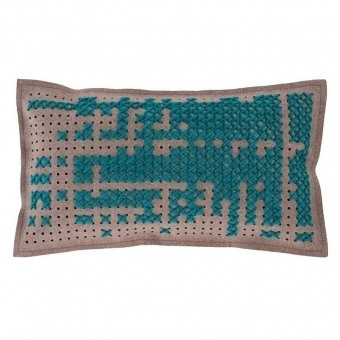 Abstract Rectangular Cushion Green Gan Rugs