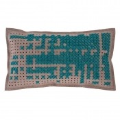 Coussin Abstract Rectangular Green Gan Rugs