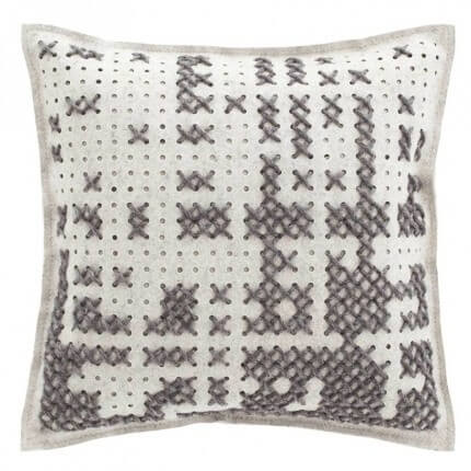 Coussin Abstract Cadra Gan Rugs Grey Coussin Abstract Cadra Grey Gan Rugs