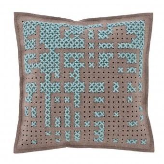 Abstract Cadra Cushion Blue Gan Rugs
