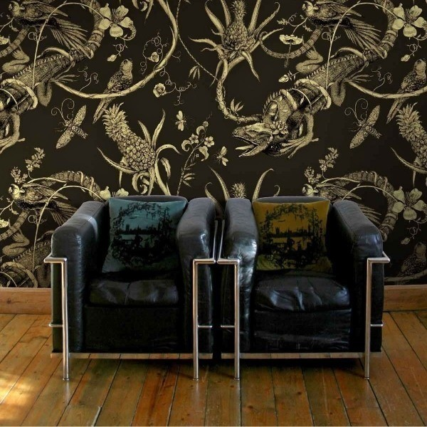 papier peint iguana grande largeur timorous beasties. Black Bedroom Furniture Sets. Home Design Ideas
