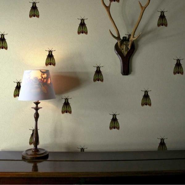papier peint papillon de nuit timorous beasties. Black Bedroom Furniture Sets. Home Design Ideas