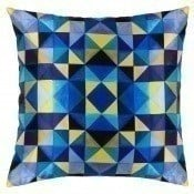 Coussin Bold Cubism French Blue 40x40 cm Mariska Meijers