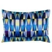 Coussin Bold Cubism Long French Blue 35x50 cm Mariska Meijers
