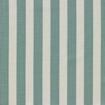 Rayure Laurel Fabric Bleu Nobilis