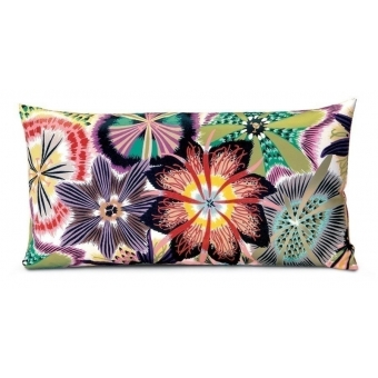 Passiflora Rectangle Cushion Bleu/Rose Missoni Home