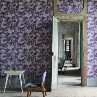 Palasini Wall Wall Covering Linen Designers Guild