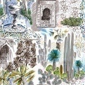 Tissu Oasis Beige Lalie Design