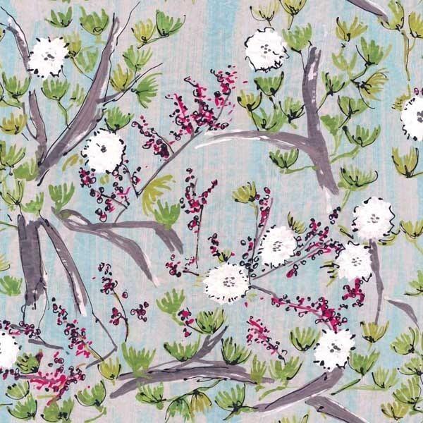 tissu fleur de coton lalie design. Black Bedroom Furniture Sets. Home Design Ideas