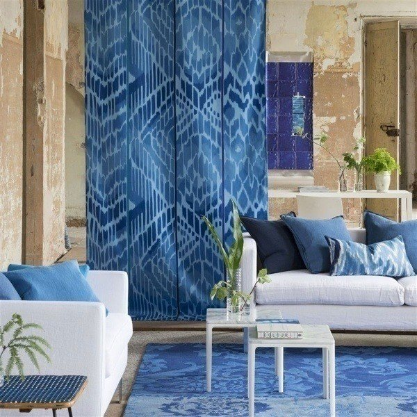 tapis kashgar indigo designers guild. Black Bedroom Furniture Sets. Home Design Ideas