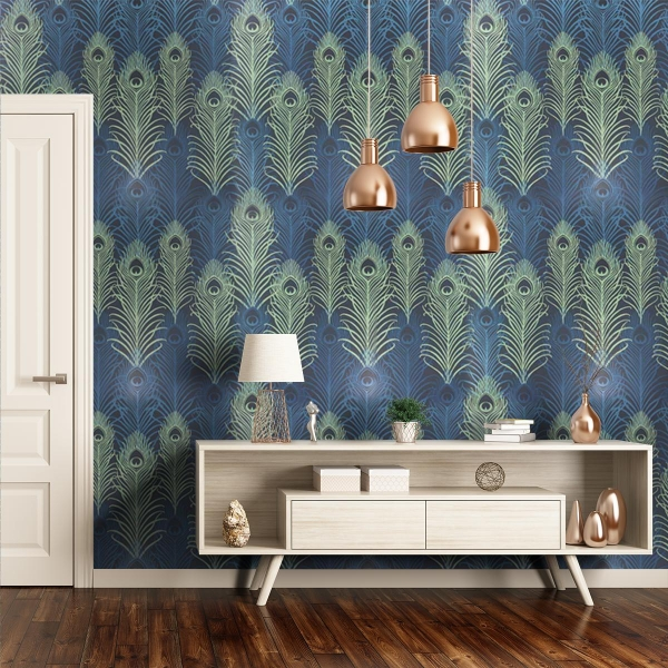 Papier peint peacock matthew williamson for Wallcover papier peint