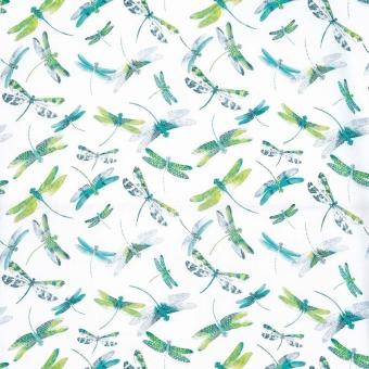 Tissu Dragonfly Dance Fuchsia/Jade Matthew Williamson