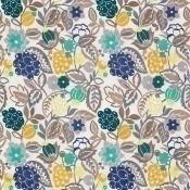 Tissu brodé La Desirade Lemon/Jade Matthew Williamson