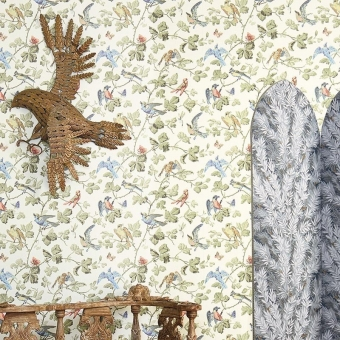 Winter Birds Wallpaper Beige Cole and Son