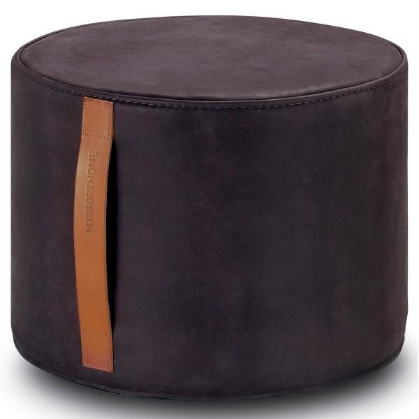 Missoni Home Gravita Oman Leather: Pouf Cylindrique Oman