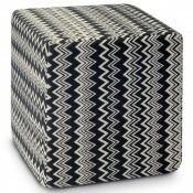 Pouf cube Orvault Noir/Blanc Missoni Home