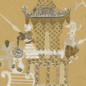 Papier peint Principessa Kocacin Avorio Rubelli