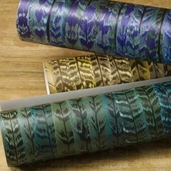 Papier peint Plume Bleu Nobilis