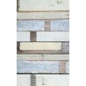Papier peint Scrapwood White Studio Ditte