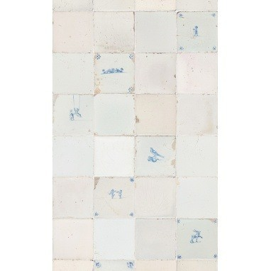 Papier peint Tiles Antique Blue Studio Ditte
