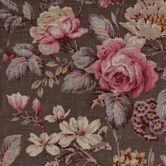 Botanist Fabric Dark taupe Andrew Martin