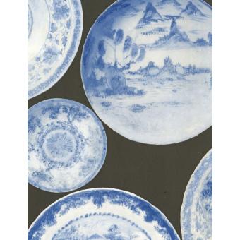 Cargo Wallpaper Blue Grey Andrew Martin